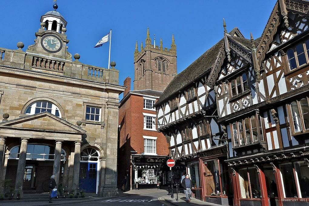 English market towns Ludlow, Shropshire