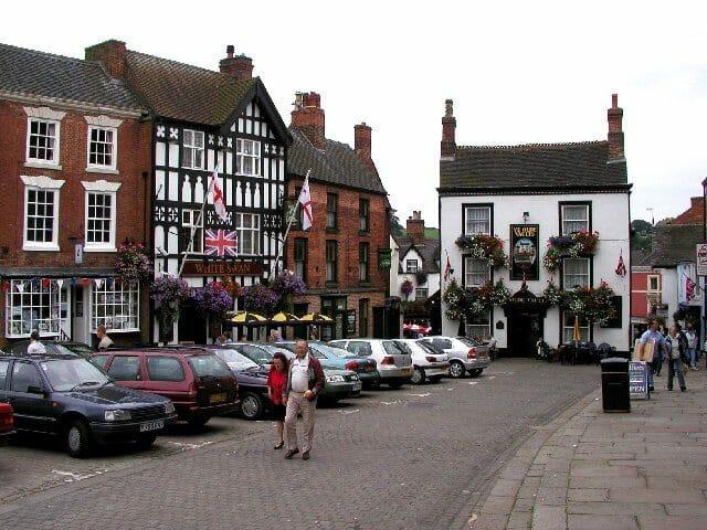 English market towns Ashbourne, Peak District, Derbyshire