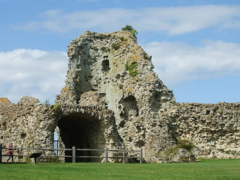Pevensey Roman Fort photo