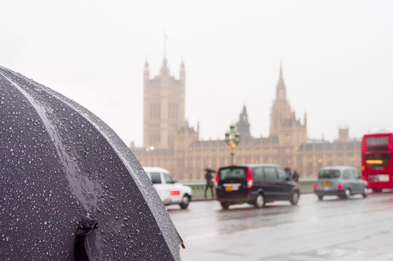 rainy weather in England